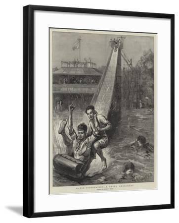 Water-Tobogganing, a Novel Amusement-Sydney Prior Hall-Framed Giclee Print