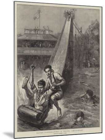 Water-Tobogganing, a Novel Amusement-Sydney Prior Hall-Mounted Giclee Print