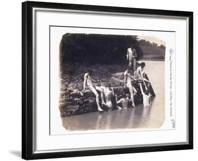 Study for the Painting 'The Swimming Hole', C. 1883-Thomas Cowperthwait Eakins-Framed Giclee Print