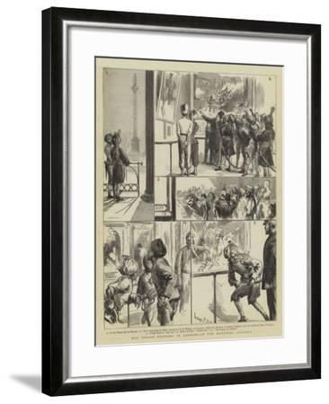 Our Indian Visitors in London, at the National Gallery-Sydney Prior Hall-Framed Giclee Print
