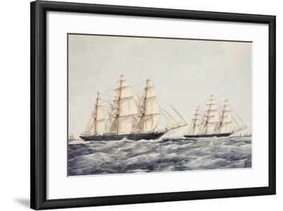 The Tea Clippers Taeping (Left) and Ariel (Right) in the Great Tea Race of 1866-Thomas Goldsworth Dutton-Framed Giclee Print