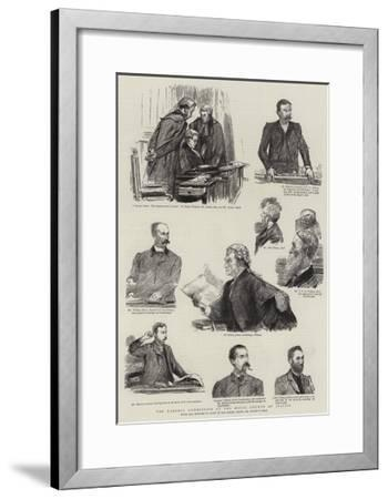 The Parnell Commission at the Royal Courts of Justice-Sydney Prior Hall-Framed Giclee Print