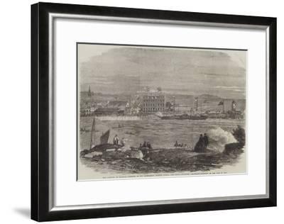 The Arrival in Douglas Harbour of His Excellency Francis Pigott-Thomas Harrington Wilson-Framed Giclee Print