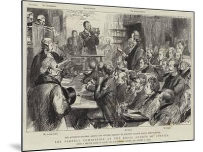 The Parnell Commission at the Royal Courts of Justice-Sydney Prior Hall-Mounted Giclee Print