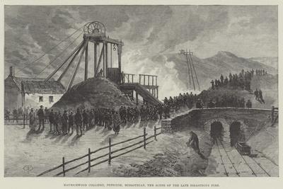 Mauricewood Colliery, Penicuik, Midlothian, the Scene of the Late Disastrous Fire-Thomas Harrington Wilson-Framed Giclee Print