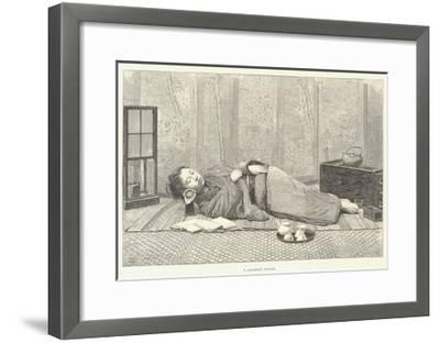 A Japanese Pillow-Thomas Harrington Wilson-Framed Giclee Print