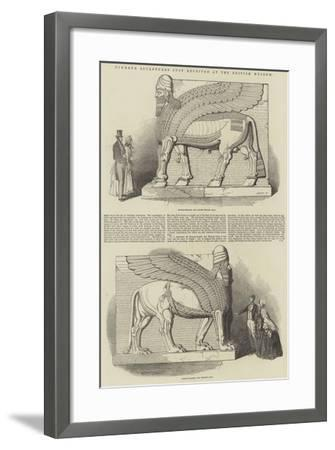 Nimroud Sculptures Just Received at the British Museum-T. D. Scott-Framed Giclee Print