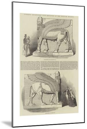 Nimroud Sculptures Just Received at the British Museum-T. D. Scott-Mounted Giclee Print