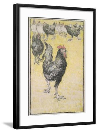 Cockerel-Theophile Alexandre Steinlen-Framed Giclee Print
