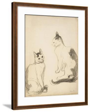 The Two Cats; Les Deux Chats-Theophile Alexandre Steinlen-Framed Giclee Print
