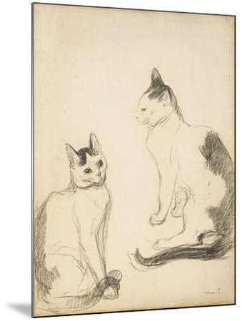 The Two Cats; Les Deux Chats-Theophile Alexandre Steinlen-Mounted Giclee Print