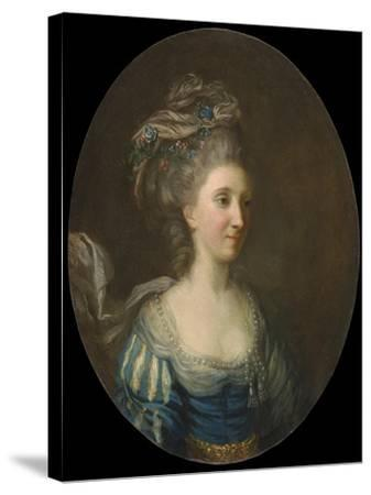 Portrait of a Lady-Thomas Hickey-Stretched Canvas Print