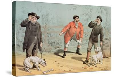 The British Bull Dog Show, from 'St. Stephen's Review Presentation Cartoon', 25 February 1888-Tom Merry-Stretched Canvas Print
