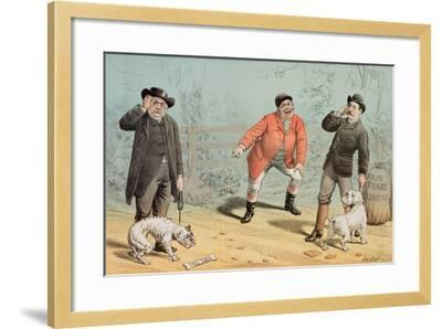 The British Bull Dog Show, from 'St. Stephen's Review Presentation Cartoon', 25 February 1888-Tom Merry-Framed Giclee Print