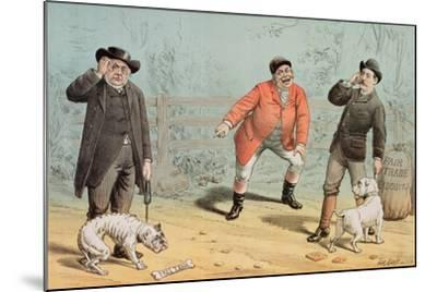 The British Bull Dog Show, from 'St. Stephen's Review Presentation Cartoon', 25 February 1888-Tom Merry-Mounted Giclee Print