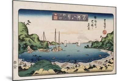 Returning Ships, Kanazawa', from the Series 'Eight Views of Famous Places'-Toyokuni II-Mounted Giclee Print