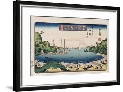 Returning Ships, Kanazawa', from the Series 'Eight Views of Famous Places'-Toyokuni II-Framed Giclee Print