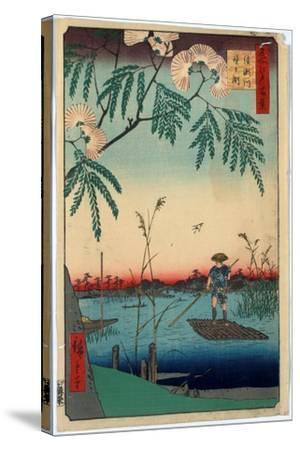 Ayasegawa Kanegafuchi-Utagawa Hiroshige-Stretched Canvas Print