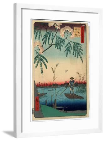 Ayasegawa Kanegafuchi-Utagawa Hiroshige-Framed Giclee Print