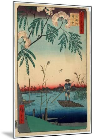 Ayasegawa Kanegafuchi-Utagawa Hiroshige-Mounted Giclee Print