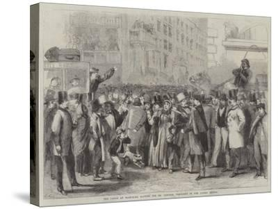 The Crowd at Baltimore Waiting for Mr Lincoln, President of the United States-Thomas Nast-Stretched Canvas Print