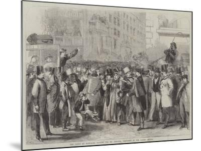 The Crowd at Baltimore Waiting for Mr Lincoln, President of the United States-Thomas Nast-Mounted Giclee Print