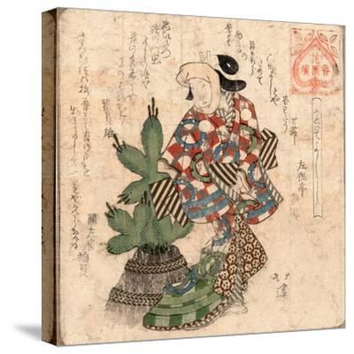 Kadoide Yoshi-Toyota Hokkei-Stretched Canvas Print