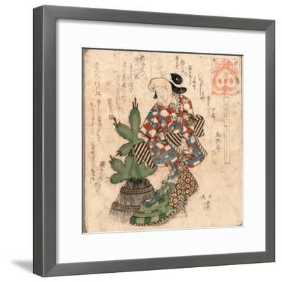 Kadoide Yoshi-Toyota Hokkei-Framed Giclee Print
