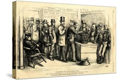 Going Through the Form of Universal Suffrage, 1871-Thomas Nast-Stretched Canvas Print