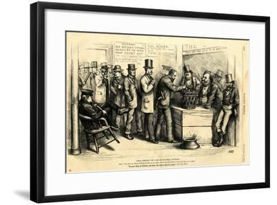 Going Through the Form of Universal Suffrage, 1871-Thomas Nast-Framed Giclee Print
