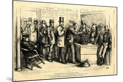 Going Through the Form of Universal Suffrage, 1871-Thomas Nast-Mounted Giclee Print