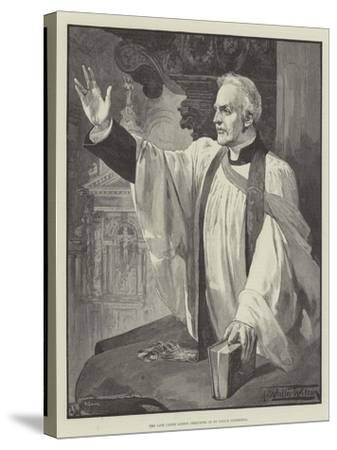 The Late Canon Liddon Preaching in St Paul's Cathedral-Thomas Walter Wilson-Stretched Canvas Print