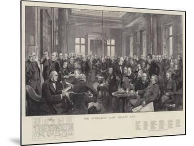The Athenaeum Club, Ballot Day-Thomas Walter Wilson-Mounted Giclee Print
