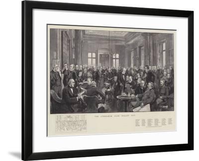 The Athenaeum Club, Ballot Day-Thomas Walter Wilson-Framed Giclee Print