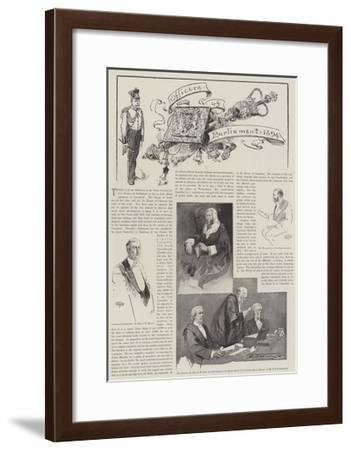 Officers of Parliament, 1894-Thomas Walter Wilson-Framed Giclee Print