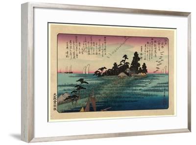 Haneda No Rakugan-Utagawa Hiroshige-Framed Giclee Print