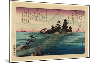 Haneda No Rakugan-Utagawa Hiroshige-Mounted Giclee Print
