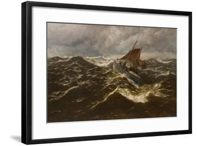 Away to the Goodwin Sands (Dover Lifeboat)-Thomas Rose Miles-Framed Giclee Print
