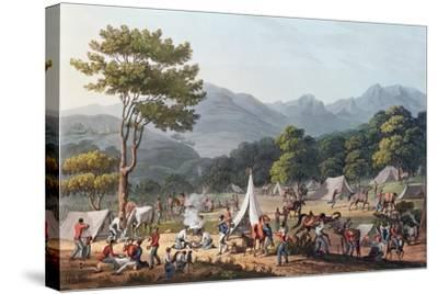 Troops Bivouacked Near Villa Velha, Engraved by C. Turner, 19th May 1811-Thomas Staunton St. Clair-Stretched Canvas Print