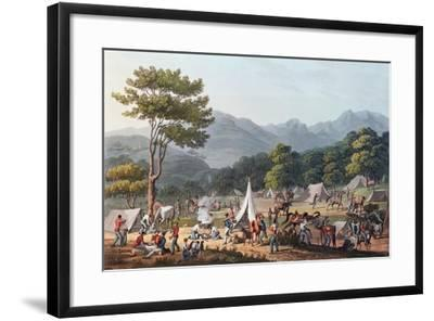 Troops Bivouacked Near Villa Velha, Engraved by C. Turner, 19th May 1811-Thomas Staunton St. Clair-Framed Giclee Print