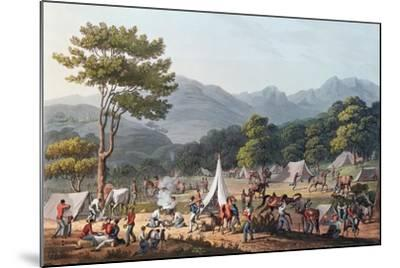 Troops Bivouacked Near Villa Velha, Engraved by C. Turner, 19th May 1811-Thomas Staunton St. Clair-Mounted Giclee Print