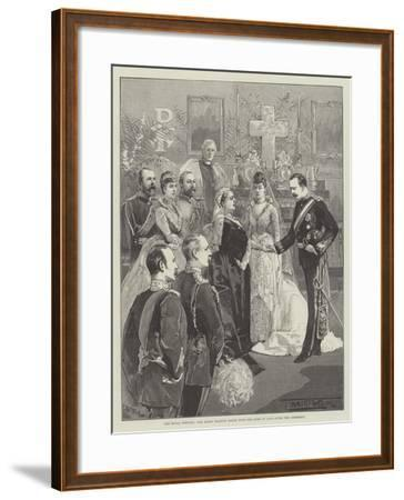 The Royal Wedding, the Queen Shaking Hands with the Duke of Fife after the Ceremony-Thomas Walter Wilson-Framed Giclee Print