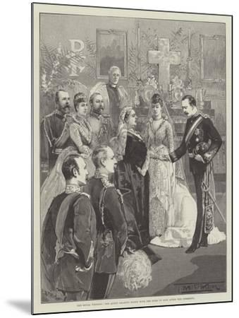 The Royal Wedding, the Queen Shaking Hands with the Duke of Fife after the Ceremony-Thomas Walter Wilson-Mounted Giclee Print
