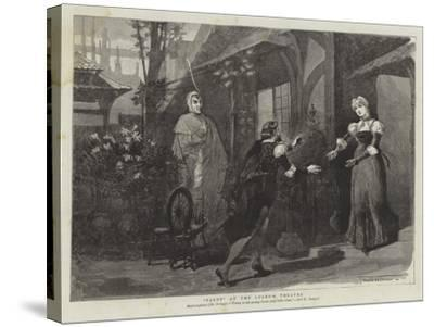 Faust at the Lyceum Theatre-Thomas Walter Wilson-Stretched Canvas Print