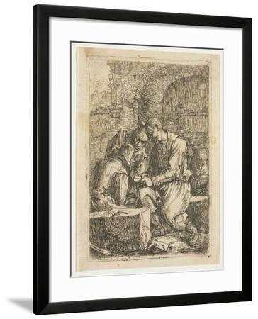 The Card Players-Thomas Wyck-Framed Giclee Print