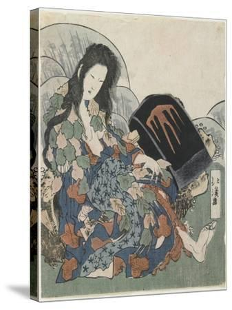 Mountain Witch Holding a Hachet-Toyota Hokkei-Stretched Canvas Print