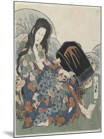 Mountain Witch Holding a Hachet-Toyota Hokkei-Mounted Giclee Print