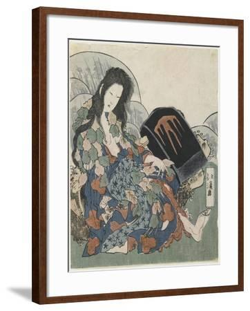 Mountain Witch Holding a Hachet-Toyota Hokkei-Framed Giclee Print