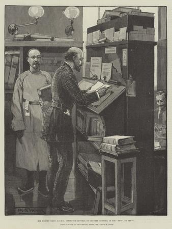 Sir Robert Hart, Gcmg, Inspector-General of Chinese Customs, in His Den at Pekin-Thomas Walter Wilson-Framed Giclee Print