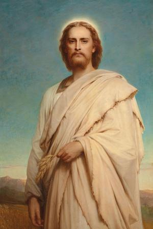 Christ of the Cornfield, 1883-Thomas-Francis Dicksee-Stretched Canvas Print
